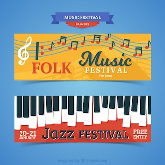 Creative music festival banners