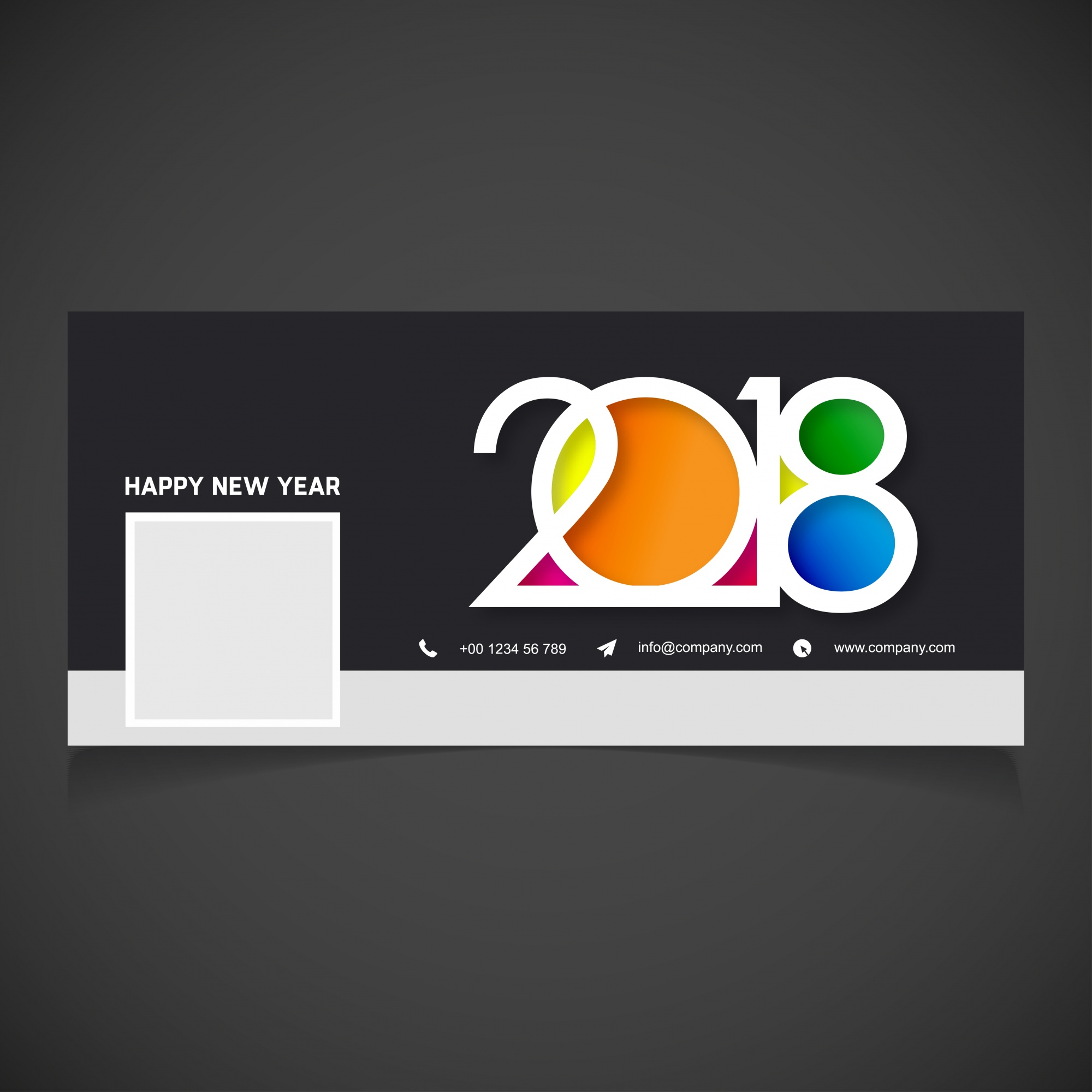 Creative new year 2018 facebook cover