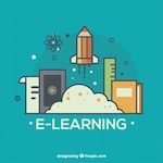 Creative online learning icons