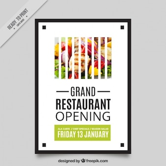 Creative opening restaurant brochure