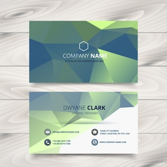creative polygonal business card