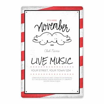 Movemberのクリエイティブなポスターデザイン