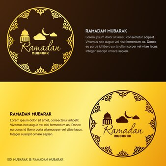 Creative ramadan greeting banners