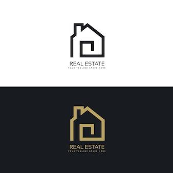 Creative real estate logo design