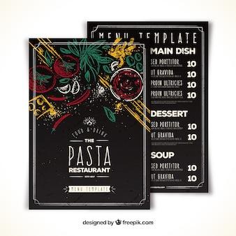 Творческое меню ресторана