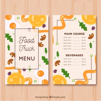 Creative restaurant menu