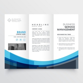 Creative trifold brochure for your business