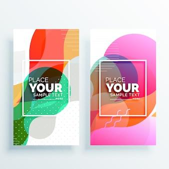 Creative vertical banner design