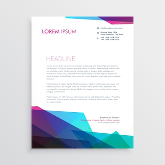 Creative vibrant letterhead vector design