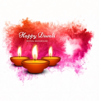Creative watercolor diwali design