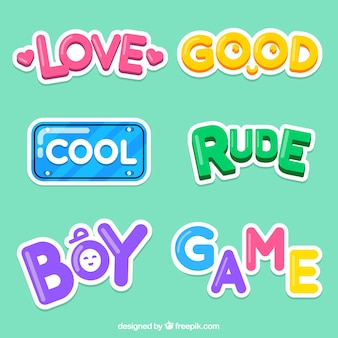 Creative word stickers