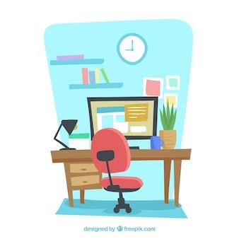 Creative workspace background
