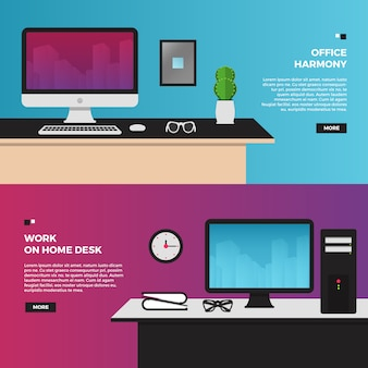 Creative workspace illustration