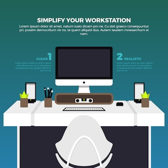 Creative workstation illustration