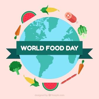 Creative world food day background