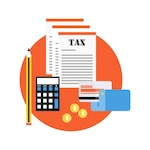 Credit card with tax documents