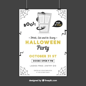 Creepy halloween party poster