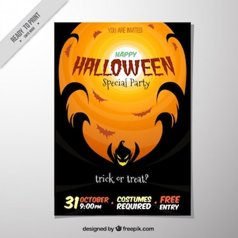 Creepy leaflet for halloween