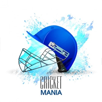 Cricket background with blue helmet