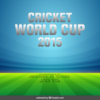 Cricket world cup illustration