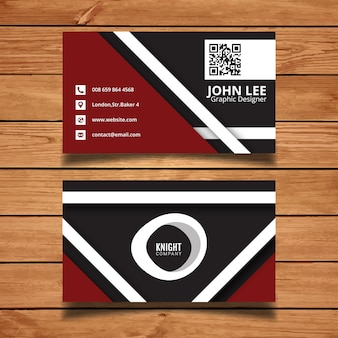 Crimson business card template