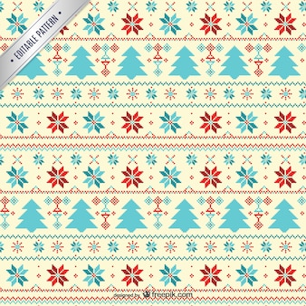 Cross stitch style Christmas pattern