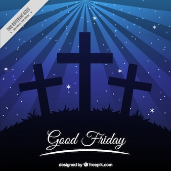 Crosses at night background
