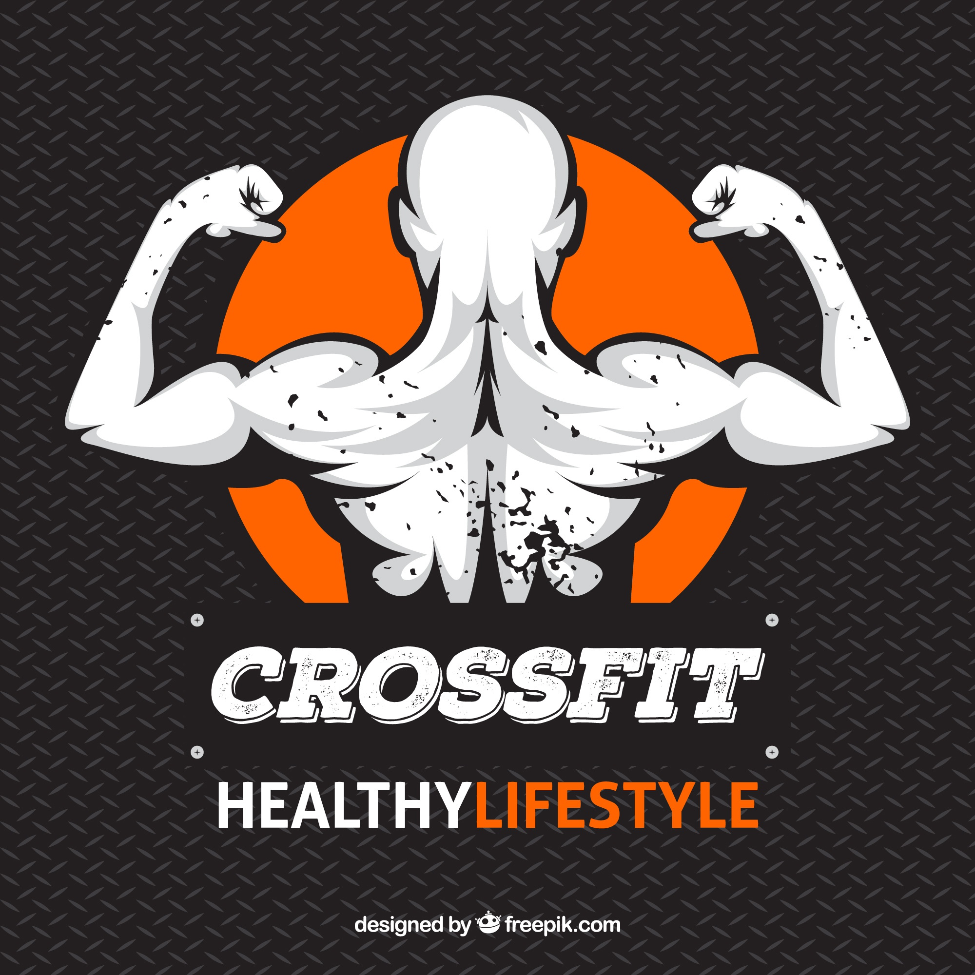 Crossfit background with illustration