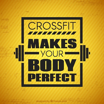 Crossfit yellow background with quote