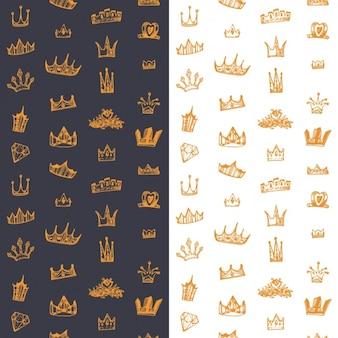 Crowns background design