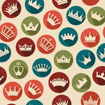 Crowns pattern with circles