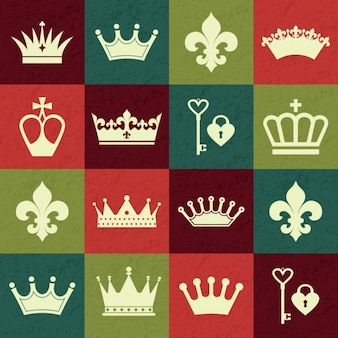 Crowns pattern with squares