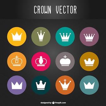 Crowns vector set