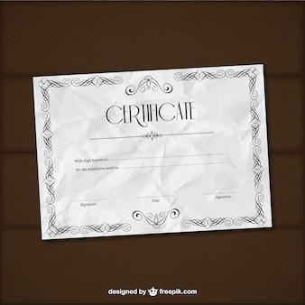 Crumpled Certificate Template