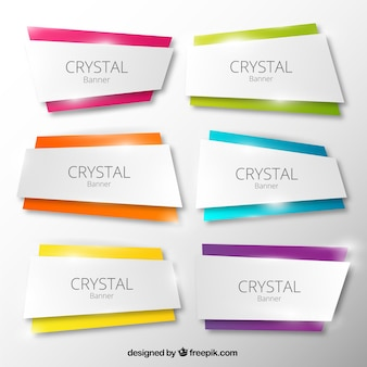 Crystal banners