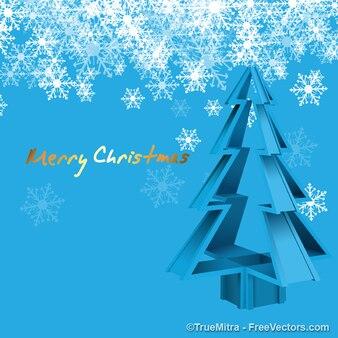 Crystal christmas tree with snowflakes