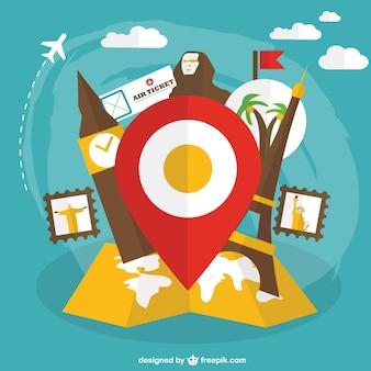 Cultural tourism vector free graphics