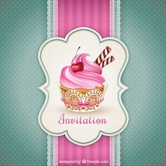 カップケーキの招待状