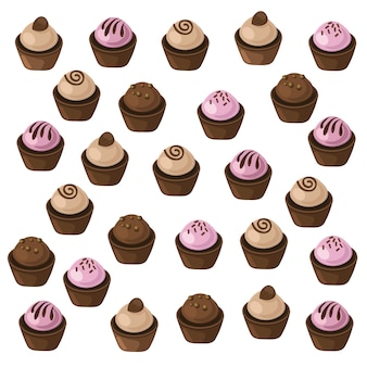 Cupcake pattern background