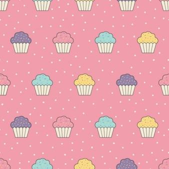 Cupcakes pattern design