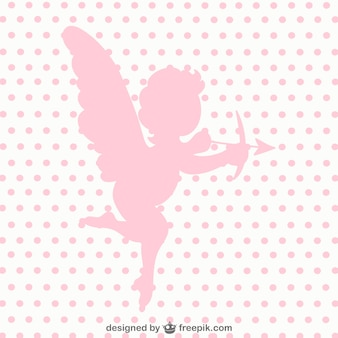 Cupid angel pink silhouette
