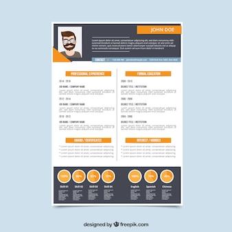 Curriculum template in flat design
