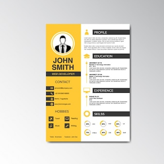 Curriculum vitae and cover letter template Vector | Free ...