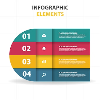 Curvy infographic business template