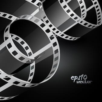Curvy realistic 3d film reel