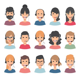 Customer service avatar collection