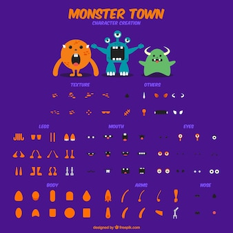 Customizable monsters