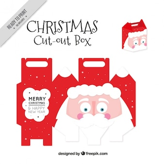 Cut out box of nice santa claus