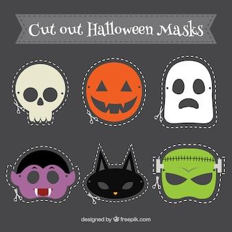 Cut out halloween masks