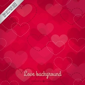 Cut out heart background
